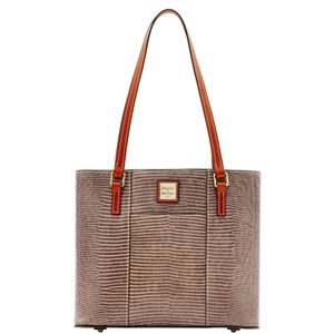 Dooney & Bourke Purse - Gray Embossed Lizard Small